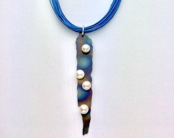 Titanium & Pearl Pendant