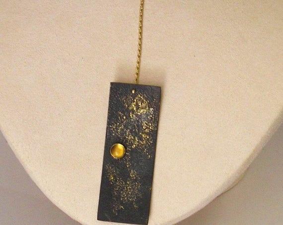 EnamelArt Textured Vitreous Enamel on Copper, 14K & 22K Necklace