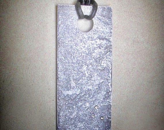Lumina Reticulated Reclaimed Aluminum & Diamond Pendant