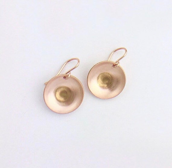 14K Rose Gold Fill Drop Earrings