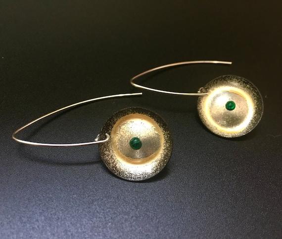 Fine Silver EnamelArt Earring