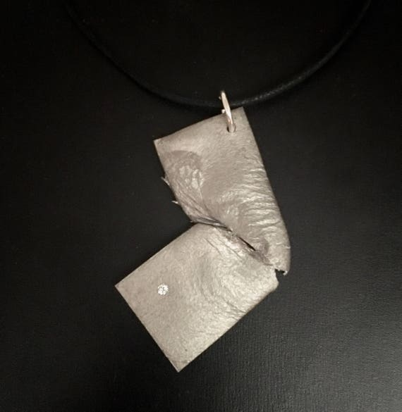 "Lumina ""One Bright Spot"" reclaimed aluminum pendant"