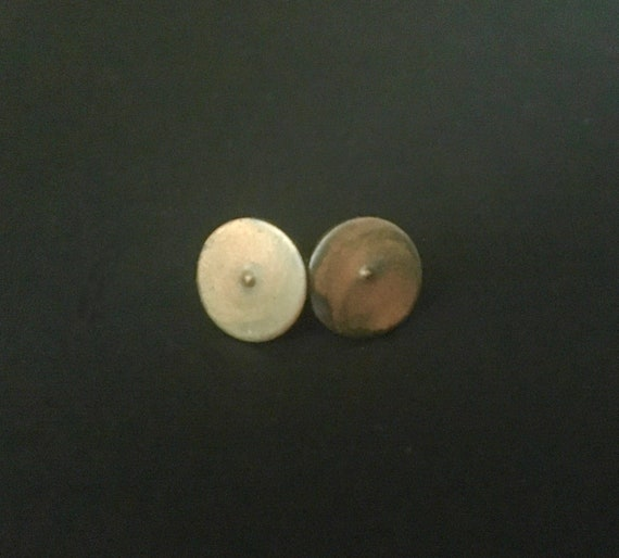Patina Finish Copper Stud Earrings