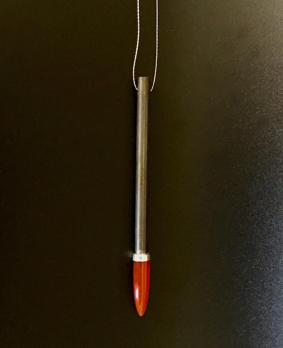 Sterling Silver & Carnelian Pendant