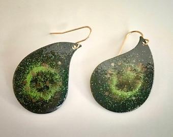 EnamelArt drop earrings