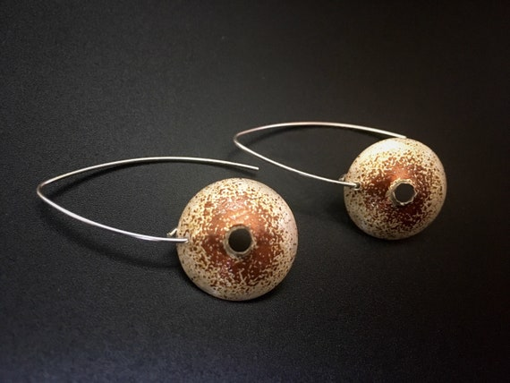 Fine Silver EnamelArt Earrings