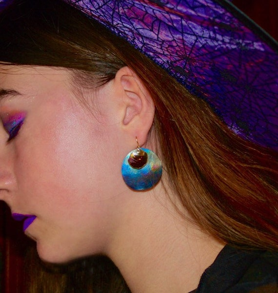 Blue Moon Titanium Earrings