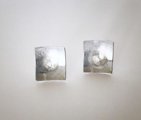 Reclaimed Aluminum Stud Earrings