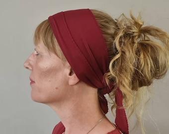 Non Slip Headscarf - Wine