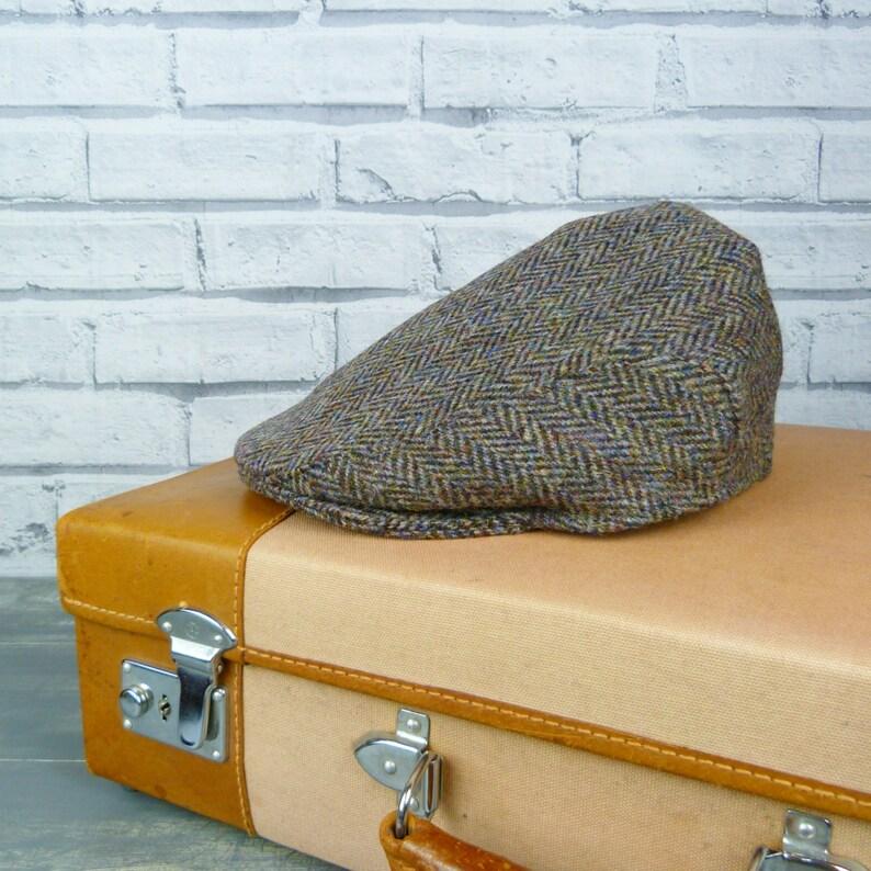 ec57f182 Harris Tweed Flat cap Traditional Wool Herringbone Tweed | Etsy