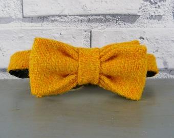 Kids Harris Tweed Bow Tie - Mustard Yellow