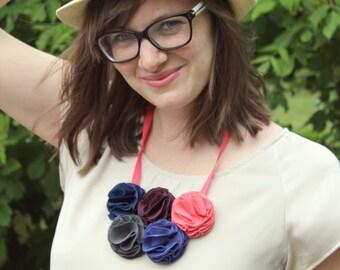 Floral Boho Necklace - Bib Style