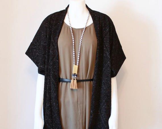 Black Diamond Kimono Cardigan