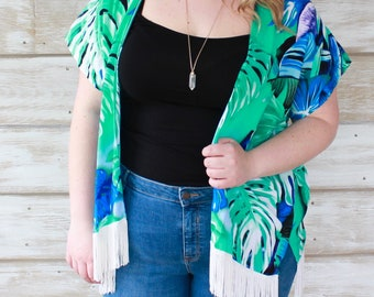 Boho Kimono - Turquoise
