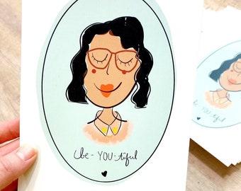 Be-YOU-tiful - Art Print - Mint