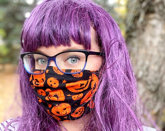 Halloween Pumpkin Mask and Scrunchie