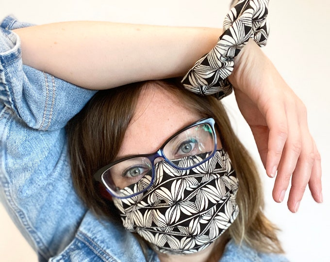 Stylish Mask and Scrunchie Set