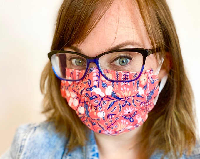 Rifle Paper Fabric Mask Made in Canada