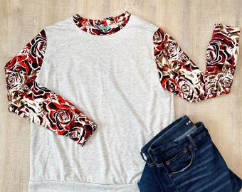 Red Rose Sweater