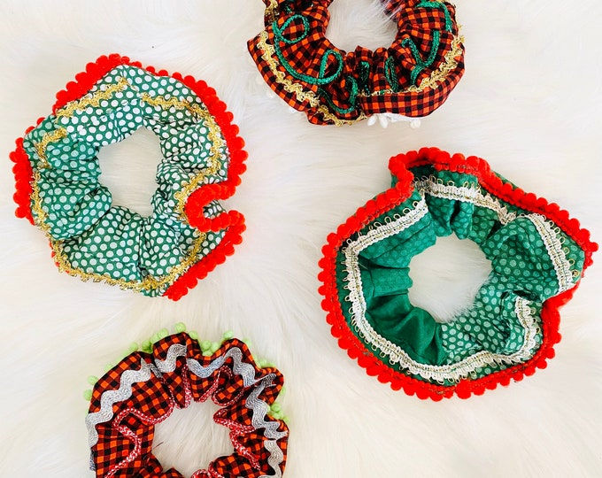 Ugly Christmas Sweater Scrunchies