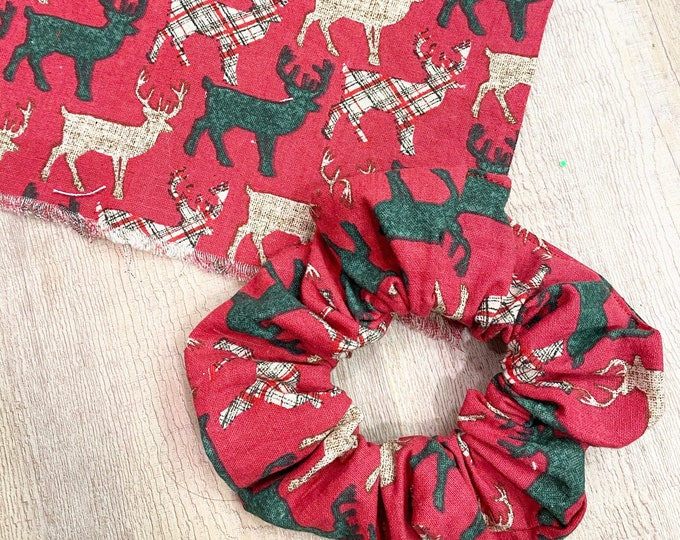 Christmas Scrunchie, Stocking Stuffer, Reindeer Scrunchie, Christmas Gift Ideas, Christmas Fashion, Holiday Fashion, Heidi and Seek, Gifts