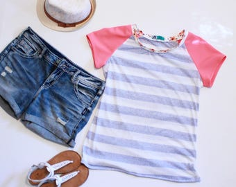 Striped Pink Sailor Tee
