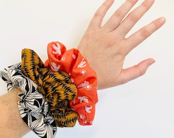 Fall Scrunchies - Pack of 3