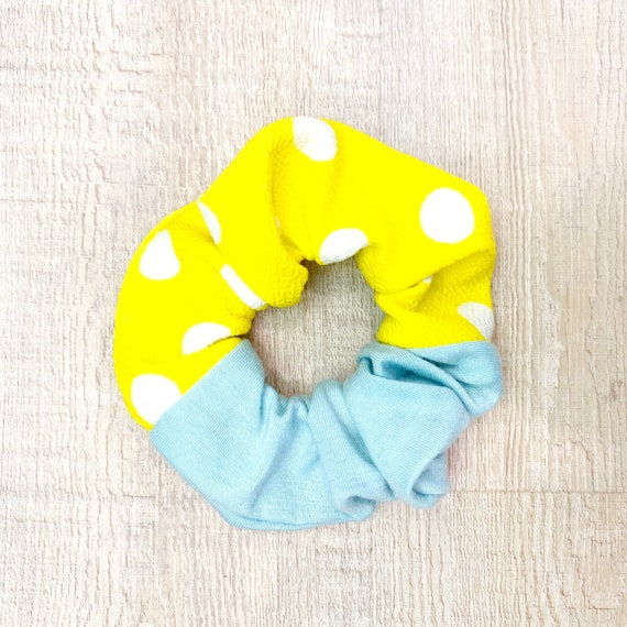 Pretty Polka Dot Scrunchie - Lemon and Mint