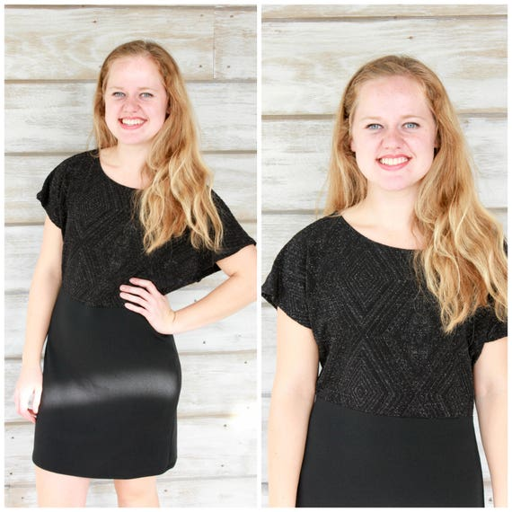 MEDIUM Black Party Dress, Little Black Dress, Sparkly Dress, Sparkly Dresses, Mini Dress, Black Dress, Shift Dress, Holiday Party Dress