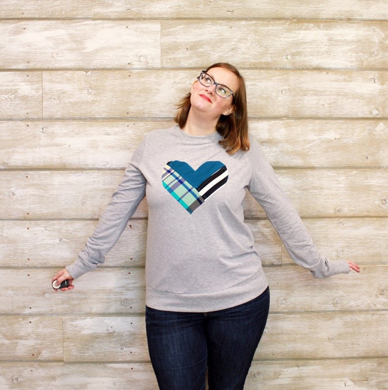 Sweaters for Women Heart Sweater Cancer Shirt Cancer image 0