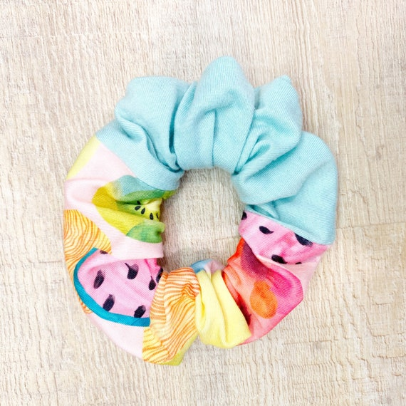 Watermelon Mint Scrunchie