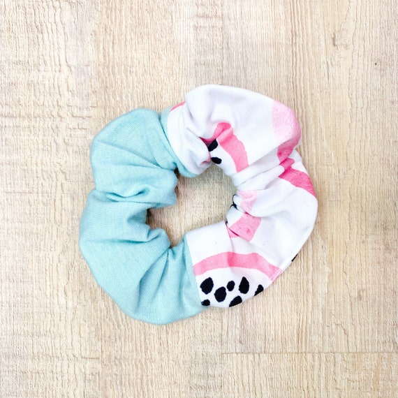 Mint Dragon Fruit Scrunchie