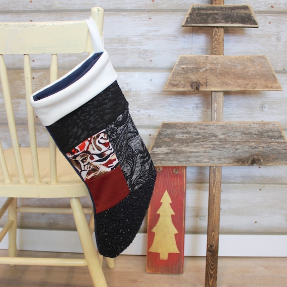 Fleece Stockings, Holiday Home Decor, Christmas Stockings, Christmas Gift, Gift Ideas, Gift for Her, Stockings Christmas, Patchwork Stocking