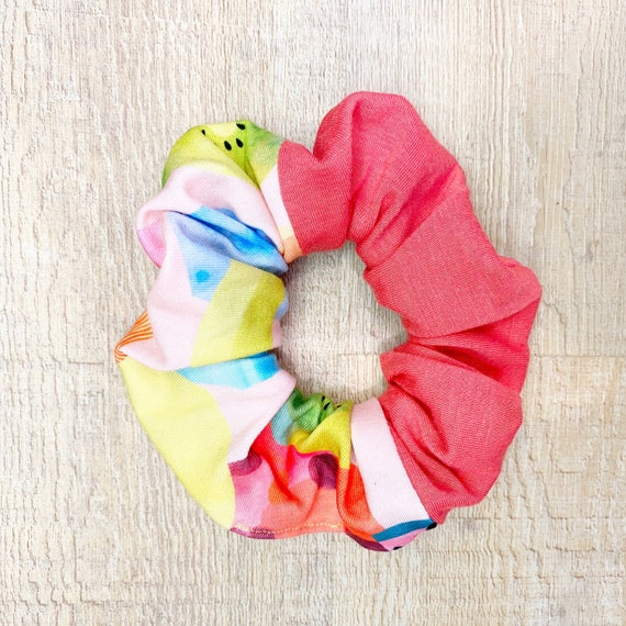 Coral Watermelon Scrunchie