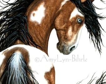 Majestic Horses - Pinto Pony Horse -Fine Art Prints by AmyLyn Bihrle mm106e