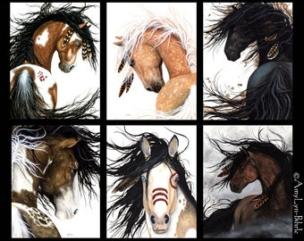 Save 50 - SALE - Majestic Horse DreamWalker Horses by Bihrle - 24x30 Inch Your choice of Giclee Matte Print