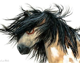 Majestic Horses - Pinto Paint Pony Horse -Fine Art Prints by AmyLyn Bihrle mm86