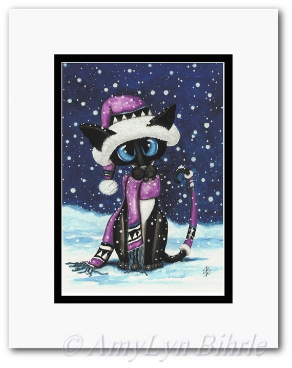 Siamese Cat Comfort Teddy Bears Art Prints /& by Bihrle ck347