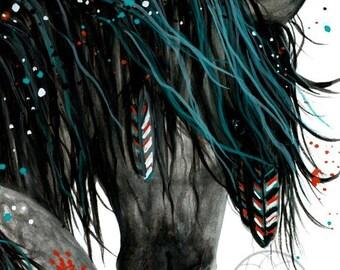 SAVE 20 SALE - 16x20 Majestic Painted Horse - Wild Spirit Horses Pony Fine Art Prints by Bihrle mm155s