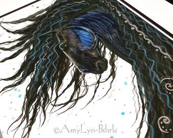 SALE - One of a Kind - Custom hand embellished print. Multi Color - Fine Art Prints by Bihrle
