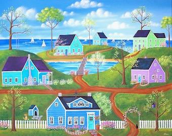 Impresión arte popular ~ un verano hermoso