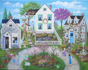 Folk Art Print~Home and Garden Show