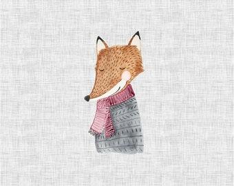 PANEL - Fox - Organic Cotton/spandex European Jersey Knit