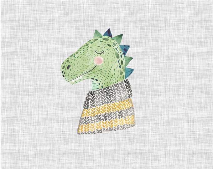 PANEL - T-Rex - Organic Cotton/spandex European Jersey Knit