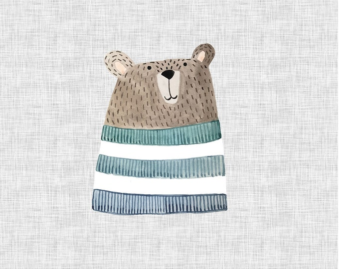 PANEL - Bear - Organic Cotton/spandex European Jersey Knit