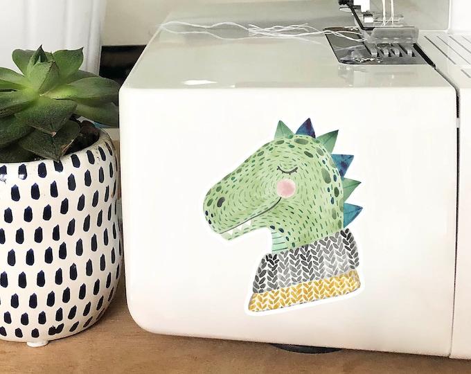 Vinyl Sticker - Sweater Dino