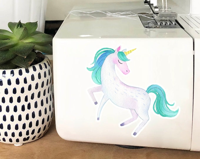Vinyl Sticker - Turquoise Unicorn
