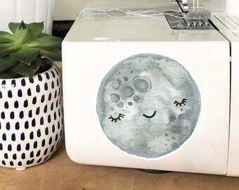 Vinyl Sticker - Sleepy Moon