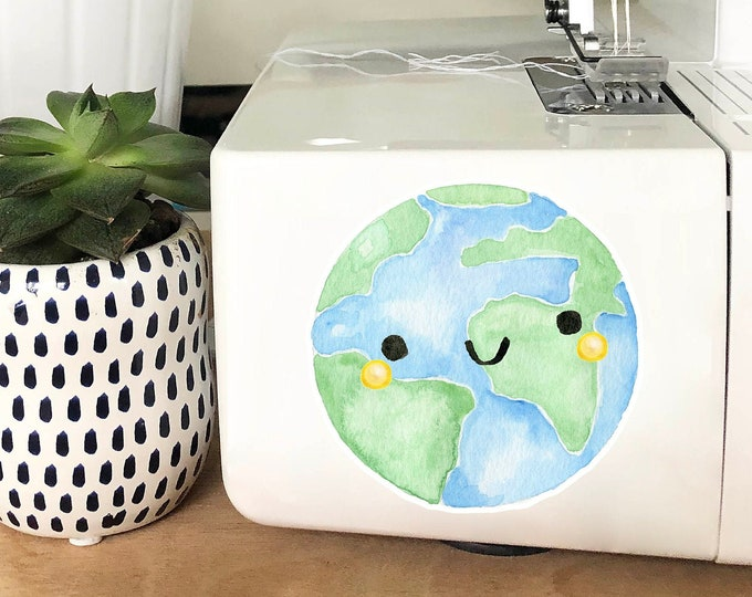 Vinyl Sticker - Happy Earth