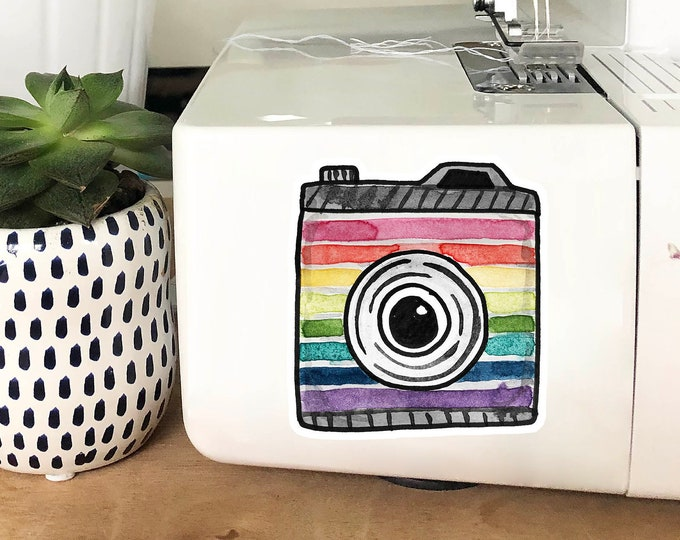 Vinyl Sticker - Rainbow Camera